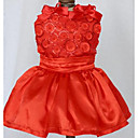 رخيصةأون قلادات-كلب الفساتين ملابس الكلاب أميرة أحمر أزرق كاكي قطن كوستيوم للحيوانات الأليفة للرجال للمرأة جميل كاجوال/يومي موضة