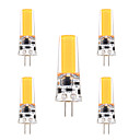 abordables Bombillas LED-YWXLIGHT® 5pcs 3W 200-300lm G4 Luces LED de Doble Pin T 1 Cuentas LED COB Regulable Decorativa Blanco Cálido Blanco Fresco 12V 12-24V