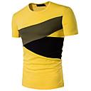 Χαμηλού Κόστους Ποτήρια Πρόποσης-Ανδρικά T-shirt Αθλητικά Ενεργό - Βαμβάκι Συνδυασμός Χρωμάτων Στρογγυλή Λαιμόκοψη / Κοντομάνικο