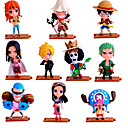 hesapli Anime Cosplay Aksesuarları-Anime Aksiyon figürleri Esinlenen One Piece Roronoa Zoro PVC 10 cm CM Model Oyuncaklar Oyuncak bebek