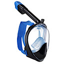 povoljno Maske, disalice i peraje-Ronjenje Maske Maske za cijelo lice Jedan prozor - Plivanje Silikon - Za Odrasli Plava / 180 stupnjeva / Bez curenja / Anti-Magla