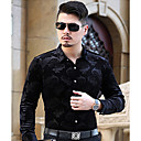 cheap Aquarium Décor & Gravel-Men's Cotton Shirt - Jacquard Classic Collar / Long Sleeve