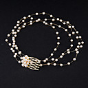 cheap Party Headpieces-Pearl Crystal Headbands Hair Combs Hair Tool Head Chain 1 Wedding Special Occasion Headpiece