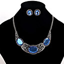 cheap Jewelry Sets-Women's Crystal Jewelry Set - Crystal Personalized, Euramerican Include Necklace / Earrings Blue For Wedding / Party / Daily