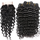 cheap One Pack Hair-natural color hair weaves brazilian texture deep wave 6 months 5 pieces hair weaves