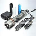 ieftine Lanterne-UltraFire 5 Lanterne LED LED 1000/1200/2000 lm 5 Mod LED Cu Baterie și Încărcător Zoomable Focalizare Ajustabilă Reîncărcabil Rezistent