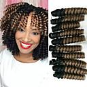 זול צמות שיער-שיער קלוע סלסול קופצני סריגה צמות טוויסט 100% שיער קנקלון Kanekalon 20 שורשים / Pack שיער צמות Ombre 100% שיער קנקלון