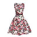 זול סטים של ביגוד לבנות-שמלה פוליאסטר אביב קיץ ללא שרוולים יומי ליציאה חגים הילדה של פרחוני לבן