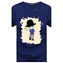 baratos Brincos-Homens Tamanhos Grandes Camiseta Estampado Algodão Decote Redondo / Manga Curta