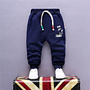 abordables Pantalones para Niño-Pantalones Chico Diario Un Color Verano Otoño Rojo Azul Marino Gris Amarillo