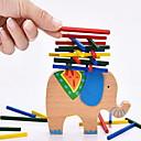 baratos Jogos de Tabuleiro-Blocos de Construir Blocos Lógicos Brinquedos de Empilhar 1 pcs Elefante Equilíbrio Clássico Para Meninos Para Meninas Brinquedos Dom