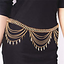cheap Body Jewelry-Tassel Body Chain Leaf Fashion Women's Gold Body Jewelry For Party / Special Occasion / Casual