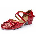 preiswerte Schuhe für Zeitgenössischen Tanz-Schuhe für den lateinamerikanischen Tanz Glitzer / Paillette / Kunstleder Sandalen Paillette / Applikationen / Schnalle Blockabsatz