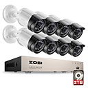 billige DVR-Sett-zosi® hd-tvi 8ch 1080p 2.0mp sikkerhetskamera system 8 * 1080p 2000tvl dag nattesyn cctv home security 2tb hdd