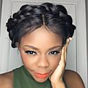 tanie Kamery IP wewnętrzne-Włosy naturalne Nieprzetworzone włosy naturalne Siateczka z przodu Peruka Włosy brazylijskie Prosta Peruka 130% Gęstość włosów z Baby Hair Naturalna linia włosów Peruka afroamerykańska W 100% ręcznie