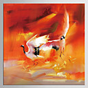 baratos Escrita-Estampado Giclée Abstrato Clássico Estilo, 1 Painel Tela de pintura Quadrada Estampado Decoração de Parede Decoração para casa