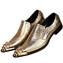 cheap Men's Slip-ons & Loafers-Men's Formal Shoes Nappa Leather Spring / Fall Oxfords Gold / Silver / Party & Evening / Novelty Shoes
