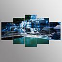 halpa Tulosteet-Pingoitetut kanvasprintit Maisema Moderni, 5 paneeli Kangas Mikä tahansa muoto Painettu Wall Decor Kodinsisustus