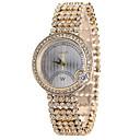 baratos Conjuntos de Bijuteria-Mulheres Relógio de Pulso Criativo / Legal Lega Banda Casual / Fashion Dourada