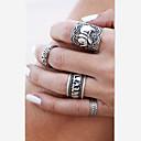 זול Fashion Ring-בגדי ריקוד נשים מתרסק טבעות לזוג / טבעות הגדר - סגסוגת פיל, חיה ארופאי מתכוונן כסף / מוזהב עבור יומי / קזו'אל