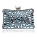 preiswerte Clutches & Abendtaschen-Damen Taschen Polyester Abendtasche Crystal / Strass Meeresblau / Dunkelblau / Black Grey