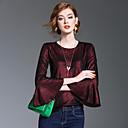 저렴한 립스틱-여성용 솔리드 플레어 슬리브 셔츠