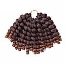 billige Hårvever med ekte hår-Hår til fletning Krøllet / Heklet Vri Fletting Syntetisk hår 20 røtter / pakke, 1 stk / pakke Hårfletter Kort Ombre hårfletter / Jamaican