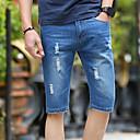 رخيصةأون أساور الرجال-بنطلون - طباعة سادة بلوك ألوان مستقيم شورتات جينزات وقت الفراغ للرجال