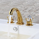 cheap Smartphone Camera Lenses-Bathroom Sink Faucet - Waterfall Gold Centerset Two Handles Three Holes