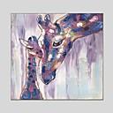 저렴한 남성용 스니커즈-항으로 그린 유화 손으로 그린 - 동물 클래식 우아한 캔버스