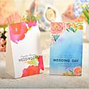 baratos Cartões e Suportes Marcadores de Lugar-Criativo Cubóide Papel de Cartão Suportes para Lembrancinhas com Estampa Caixas de Presente