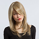 cheap Jewelry Sets-Synthetic Wig Straight Blonde Layered Haircut / With Bangs Synthetic Hair Side Part Blonde / Gray Wig Women's Long Capless Dark Ash Blonde StrongBeauty