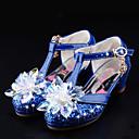 baratos Sapatos de Menina-Para Meninas Sapatos Gliter / Courino Verão / Outono Conforto / Inovador / Sapatos para Daminhas de Honra Sapatos De Casamento Caminhada Cristais / Laço / Presilha para Prata / Azul / Rosa claro