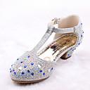 baratos Sapatos de Menina-Para Meninas Sapatos Courino / Microfibra Primavera Verão Conforto / Inovador / Sapatos para Daminhas de Honra Rasos Caminhada Gliter com