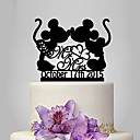 cheap Cake Toppers-Cake Topper Classic Theme Fairytale Theme Funny & Reluctant Acrylic Wedding Anniversary Bridal Shower With OPP