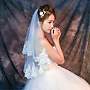 olcso Menyasszonyi fátyol-Egykapcsos Csipke szegély Menyasszonyi fátyol Könyékig érő fátylak Ujjakig érő fátyol A Minta Csipke Tüll