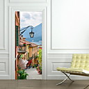 cheap Wall Stickers-Door Stickers - 3D Wall Stickers Landscape Living Room / Bedroom