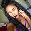 olcso Szintetikus parókák-ELVA HAIR Emberi haj Paróka Göndör 360 Frontal Paróka Természetes hajszálvonal Afro-amerikai paróka 100% kézi csomózású Női Rövid Közepes Hosszú Emberi hajból készült parókák