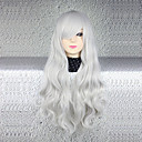 hesapli Anime Cosplay Peruklar-Cosplay Cosplay Kadın's 30 inç Isı Dirençli Fiber Gümüş Anime Cosplay Perukları