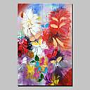 baratos Impressões-Pintura a Óleo Pintados à mão - Floral / Botânico Estilo Europeu Modern Tela de pintura