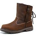 baratos Mocassins Femininos-Unisexo Sapatos Pele Napa Outono Conforto / Botas Cowboy / Country / Botas de Montaria Botas Castanho Claro / Botas da Moda