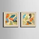 זול אומנות ממוסגרת-קאנבס ממוסגר סט ממוסגר - טבע דומם פרחוני / בוטני PVC ציור שמן