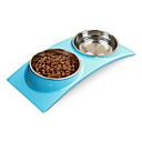 זול קערות כלבים & האכלה-חתול / כלב קערות ובקבוקי מים חיות מחמד & קערות האכלה עמיד למים ירוק / כחול / ורוד