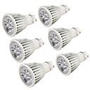olcso LED Szpotlámpák-YouOKLight 6db 5 W 400-450 lm GU10 LED szpotlámpák 5 LED gyöngyök Nagyteljesítményű LED Dekoratív Meleg fehér / Hideg fehér 220-240 V / 110-130 V / 6 db. / RoHs