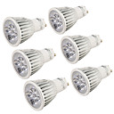 billige LED Spotlys-YouOKLight 6stk 5 W 400-450 lm GU10 LED-spotlys 5 LED Perler Højeffekts-LED Dekorativ Varm hvid / Kold hvid 220-240 V / 110-130 V / 6 stk. / RoHs