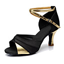 cheap Curtain Rods & Hardware-Women's Satin Dance Sneakers Heel Customized Heel Customizable Gold / Silver / Red / Performance / Leather