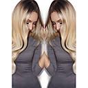 billige Syntetiske blondeparykker-Syntetiske parykker Krop Bølge Blond Syntetisk hår Ombre-hår / Mørke hårrødder / Natural Hairline Blond Paryk Dame Lang Lågløs