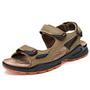 cheap Men's Sandals-Men's Cowhide Spring / Summer Comfort Sandals Upstream Shoes Coffee / Green