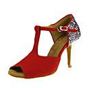 preiswerte Schuhe für Zeitgenössischen Tanz-Damen Schuhe für den lateinamerikanischen Tanz Beflockung / Paillette Sandalen / Absätze Paillette / Schnalle Maßgefertigter Absatz