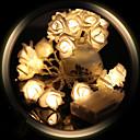 billige Bakeredskap-1.2m Lysslynger 10 LED Varm hvit / Hvit / Rød <5 V